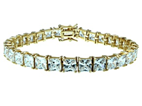 Pre-Owned Bella Luce ® 27.35ctw White Diamond Simulant 18k Yellow Gold Over Sterling Silver Bracelet