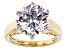 Pre-Owned White Cubic Zirconia 18k Yellow Gold Over Sterling Silver Ring 11.90ctw