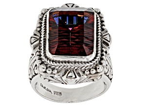 Pre-Owned Red Hayward's Muse™ Mystic Quartz® Silver Ring 7.48ctw