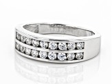 Pre-Owned Swarovski ® White Zirconia Platinum Over Sterling Silver Band Ring 0.65ctw