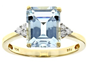 Pre-Owned Blue Aquamarine 10k Yellow Gold Ring 2.58ctw