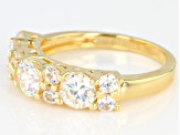 Pre-Owned Fabulite Strontium Titanate And White Zircon 18k Yellow Gold Over Silver Ring 2.79ctw