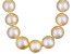 Pre-Owned 9 To 10mm Peach Cultured Freshwater Pearl Sterling Silver 18 inch Necklace