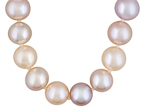 Pre-Owned 9-10mm Pink, Peach & Purple Cultured Freshwater Pearl Sterling Silver 18 inch Necklace