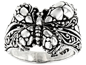 Pre-Owned Sterling Silver Butterfly Ring