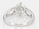 Pre-Owned Moissanite Ring Platineve ™ 1.50ct DEW