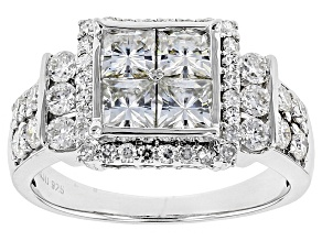 Pre-Owned Moissanite Platineve Ring 2.68ctw D.E.W