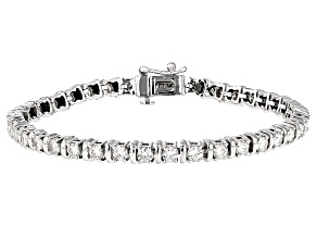 Pre-Owned Moissanite Bracelet 14k White Gold 4.94ctw DEW