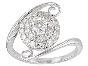 Pre-Owned Moissanite Platineve Ring .93ctw D.E.W