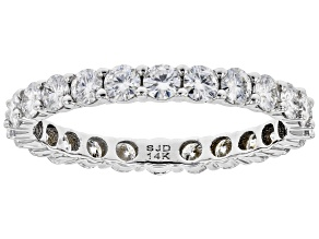 Pre-Owned Moissanite 14k White Gold Eternity Band Ring 1.44ctw DEW