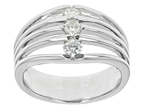 Pre-Owned Moissanite Platineve Ring .39ctw DEW