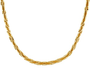 Pre-Owned 18k Yellow Gold Over Silver Criss Cross Chain Necklace 18 inch