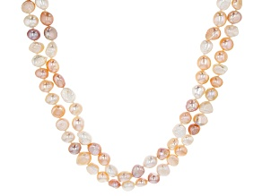 Pre-Owned Cultured Freshwater Pearl Endless Strand Necklace Set