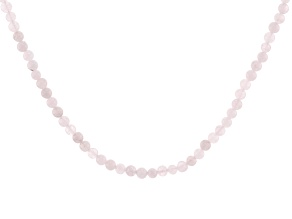 Pre-Owned Pink morganite sterling silver bead bolo necklace