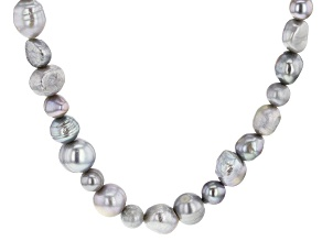 Pre-Owned 4-10mm Enhanced Silver Cultured Freshwater Pearl Endless Strand 36 inch Necklace
