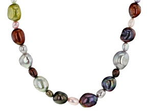 Pre-Owned 4-10mm Enhanced Multicolor Cultured Freshwater Pearl Endless Strand 36 inch Necklace