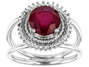 Pre-Owned Red Mahaleo® Ruby Sterling Silver Ring 2.08ctw