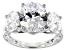 Pre-Owned Swarovski ® White Zirconia Rhodium Over Sterling Silver Ring 12.73CTW