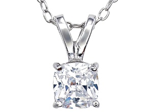 Pre-Owned Bella Luce® .95ct Diamond Simulant Rhodium Over Silver Pendant With Chain
