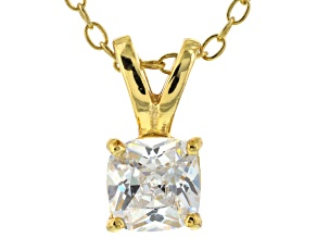 Pre-Owned Bella Luce® .95ct Diamond Simulant 18k Gold Over Silver Pendant With Chain