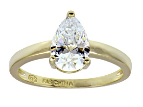Pre-Owned Bella Luce 1.80ct 18k Yellow Gold Over Sterling Silver Solitaire Ring