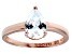 Pre-Owned Bella Luce 1.80ct Pear Diamond Simulant 18k Rose Gold Over Sterling Silver Ring