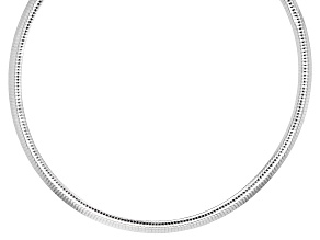 Pre-Owned Sterling Silver 7.5MM Polished Omega Necklace 20 Inch