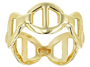 Pre-Owned 18K Yellow Gold Over Sterling Silver Valentino Ring