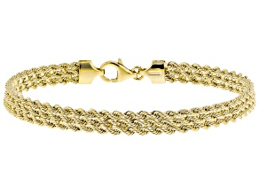 Pre-Owned 10K Yellow Gold 5.5mm Rope Chain Bracelet 7.5 Inch