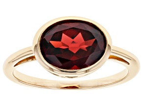 Pre-Owned Red Garnet 10k Yellow Gold Ring 2.98ct