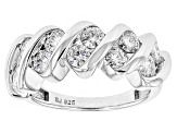 Pre-Owned Moissanite Platineve Ring 1.30ctw DEW