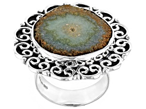 Pre-Owned Artisan Collection of India™ Agate Stalactite Sterling Silver Ring