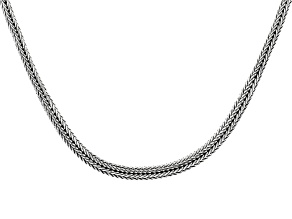 Pre-Owned Sterling Silver Bali Snake Chain Necklace