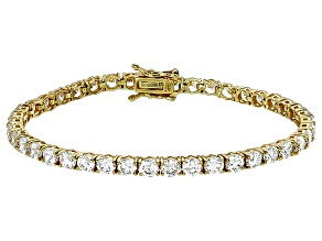 Pre-Owned Bella Luce® 16.96ctw Round Diamond Simulant 18k Yellow Gold Over Silver Bracelet