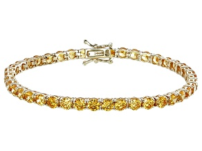 Pre-Owned Bella Luce® 16.96ctw Diamond Simulant 18k Yellow Gold Over Silver Bracelet