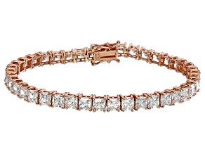 Pre-Owned Bella Luce® 17.96ctw Diamond Simulant 18k Rose Gold Over Silver Bracelet