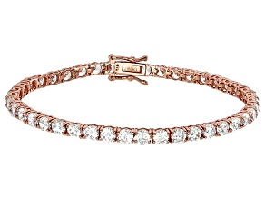 Pre-Owned Bella Luce® 16.96ctw Round Diamond Simulant 18k Rose Gold Over Silver Bracelet
