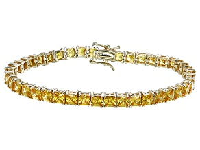 Pre-Owned Bella Luce® 17.96ctw Yellow Diamond Simulant 18k Gold Over Silver Bracelet
