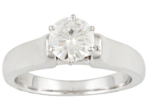 Pre-Owned MOISSANITE FIRE® 1.00CT DEW ROUND PLATINEVE™ SOLITAIRE RING