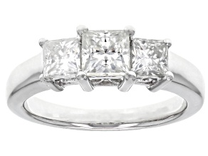 Pre-Owned Moissanite Platineve Ring 1.62ctw DEW.