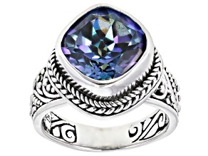 Pre-Owned Blueicious™ Quartz Silver Solitaire Ring 4.68ctw