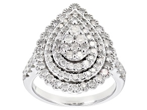 Pre-Owned White Diamond 10k White Gold Ring 1.62ctw