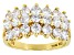 Pre-Owned White Cubic Zirconia 18K Yellow Gold Over Sterling Silver Ring 3.78ctw
