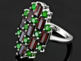 Pre-Owned Red Garnet Sterling Silver Ring 3.90ctw