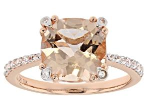 Pre-Owned Pink  Morganite 10k Rose Gold Ring 3.19tw