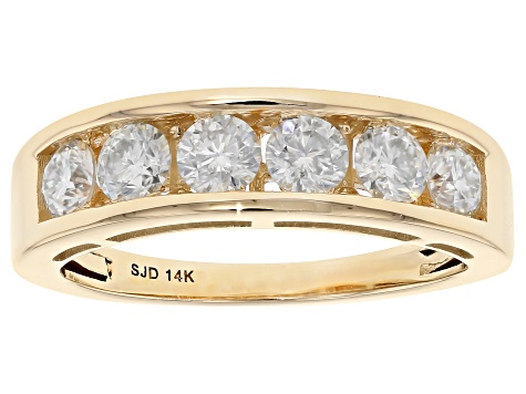 Pre-Owned Moissanite 14k Yellow Gold Ring .96ctw D.E.W