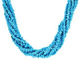 Pre-Owned Turquoise Sleeping Beauty 8-Strand Silver Necklace