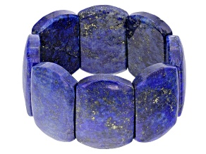 Pre-Owned Blue Lapis Lazuli Stretch Bracelet