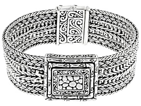 Pre-Owned Sterling Silver Multi-Row Bracelet