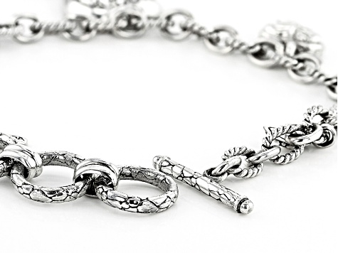 Pre-Owned Sterling Silver Charm Bracelet